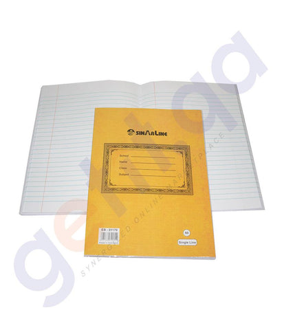 NOTE BOOK & REGISTER - EXERCISE BOOK ER-01170  -  60 SHEETS SINGLE LINE