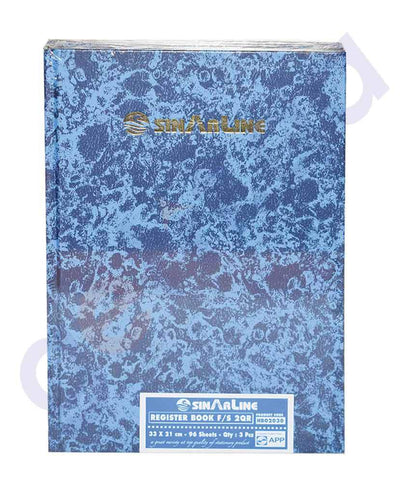 NOTE BOOK & REGISTER - SINAR REGISTER  20R HS HB02030 - 96 SHEETS