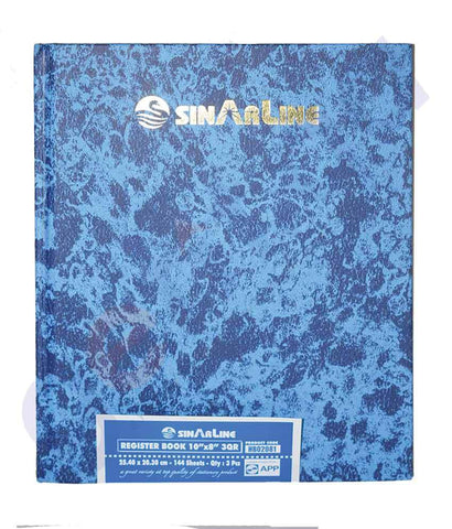 NOTE BOOK & REGISTER - SINAR REGISTER  30R 10X8 HB02081 - 144 SHEETS