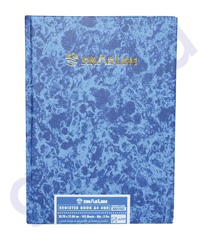 NOTE BOOK & REGISTER - SINAR REGISTER 40R A4 H1302083 - 192 SHEETS