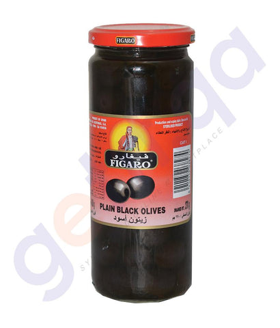OLIVES - FIGARO PLAIN BLACK OLIVES - 270GMS