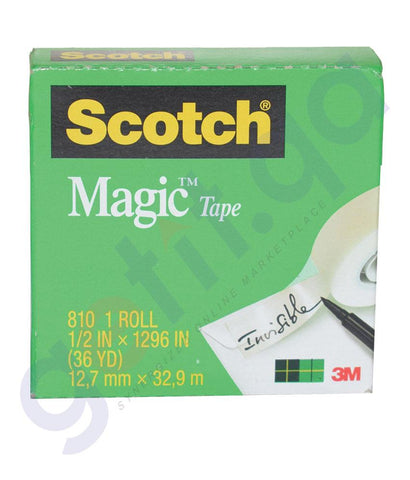 OTHER OFFICE ACCESORIES - SCOTCH MAGIC TAPE 3M 3/4X36YD 810