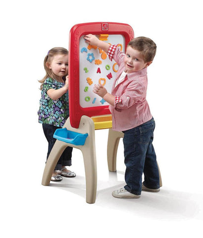 Outdoor Toys - Step2 All Around Easel For Two Red 826800 (3+ Years)
