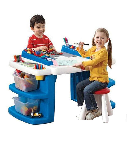 Outdoor Toys - Step2 Build & Store Block Activity Table 811700 (1.5+ Years)