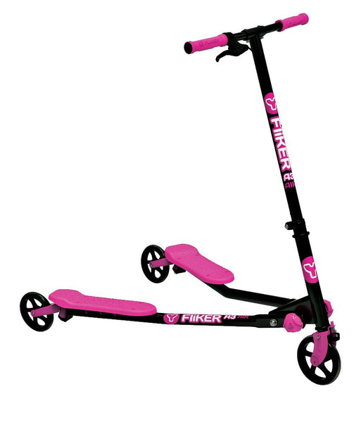 Outdoor Toys - Y VOLUTION YFLIKER A3 AIR BLACK/PINK (4L CL 2PK) KIDS KICK SCOOTER - 100020