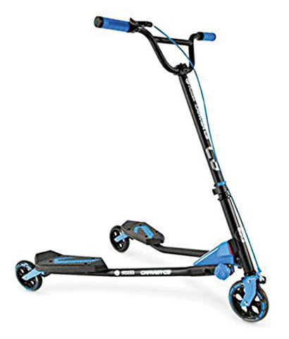 Outdoor Toys - Y VOLUTION YFLIKER C3 CARVER BLACK/BLUE (4L CL 2PK) KIDS KICK SCOOTER - 100042