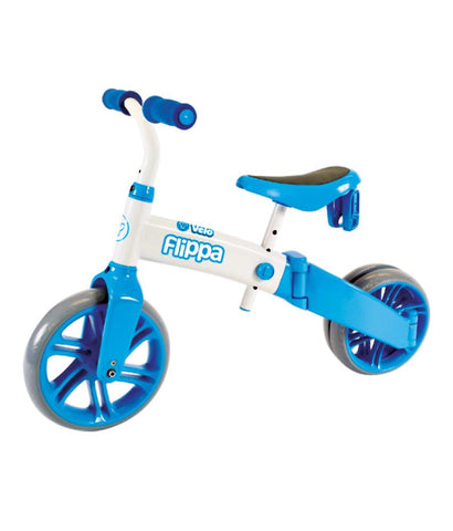 Outdoor Toys - Y VOLUTION YVELO FLIPPA BLUE/WHITE WITH PC COVER (4L CL 2PK) KIDS KICK SCOOTER - 100612