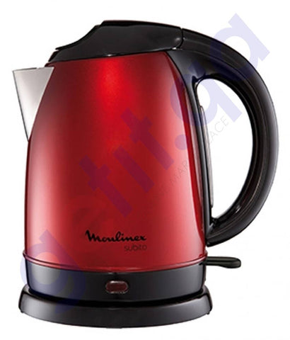 Buy Moulinex Kettle Steel Red 1.7L BY530527 in Doha Qatar
