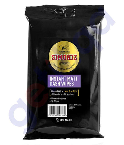 Buy Simoniz Instant Matt Dash Wipes 20pk Online Doha Qatar