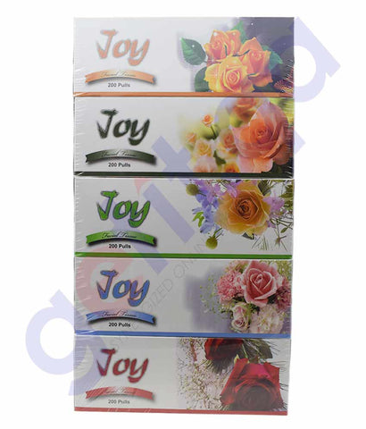 Buy Joy Tissue 200s 2Ply 5Pcs Price Online in Doha Qatar