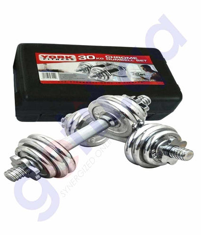 Buy York Fitness Dumbbell Set 30kg Online in Doha Qatar