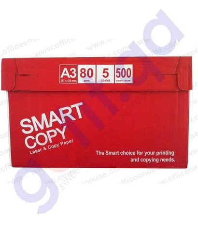 Buy Smart Copy A3 Size Paper Carton Price Online in Doha Qatar