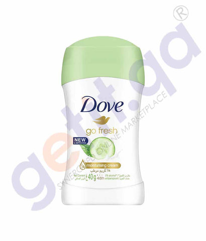 ONLINE BUY DOVE 40GM GO FRESH CUCUMBER DEODORANT STICK IN QATAR