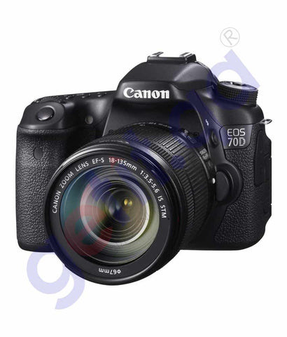 CANON EOS 70D DSLR CAMERA WITH 18-135MM LENS KIT