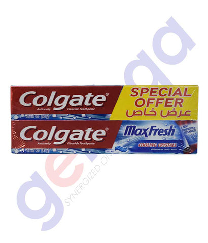 Buy Colgate Max Fresh Cool Mint 2x75ml Online Doha Qatar
