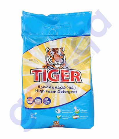 Buy Tiger High Foam Detergent Powder 3kg Price Online Doha Qatar