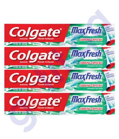 Buy Colgate Max Fresh Clean Mint 4x75ml Online Doha Qatar