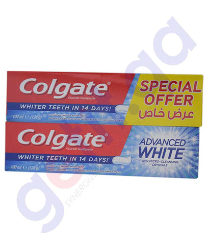 Buy Colgate Advanced Whitening Toothpaste 2x100ml Doha Qatar