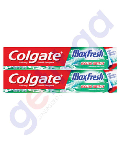 Buy Colgate Max Fresh Clean Mint 2x75ml Online Doha Qatar