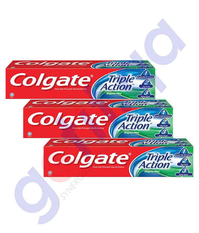 Buy Colgate Toothpaste Triple Action 3x125ml in Doha Qatar