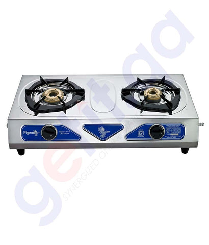 Buy Pigeon Stainless Steel LPG Stove 2Br Duo in Doha Qatar