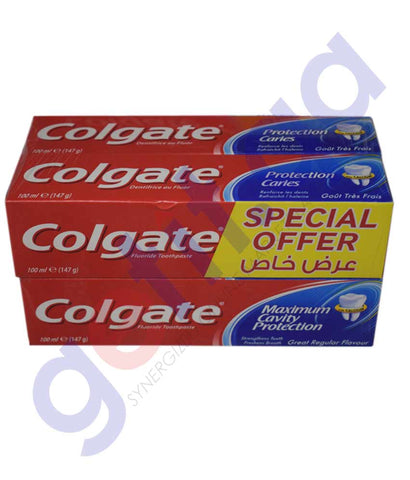 Buy Colgate Toothpaste Great Regular 4x100ml in Doha Qatar