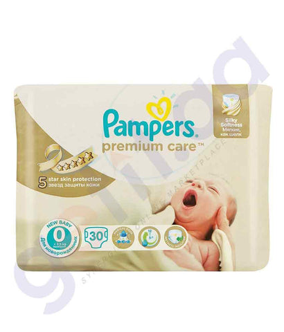 PAMPERS - PAMPERS PREMIUM CARE SIZE-0 (30 PIECES)