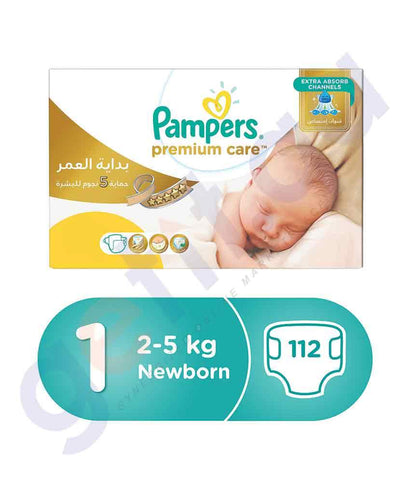 PAMPERS - PAMPERS PREMIUM CARE SIZE-1 (112 PIECES) MEGA-BOX