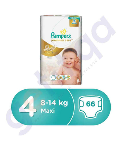 PAMPERS - PAMPERS PREMIUM CARE SIZE-4 (66 PIECES) SUPER-SAVER JUNIOR-PACK