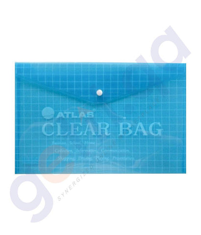PEN PENCIL& MARKERS - ATLAS DOCUMENT BAG - PACK OF 12