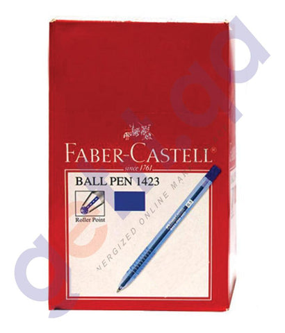 PEN PENCIL& MARKERS - BALL PEN 0.7MM 50PC BY FABER CASTELL