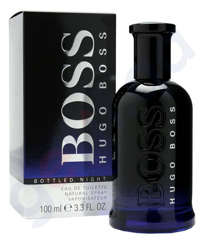 PERFUME - HUGO BOSS BOTTLED  NIGHT EDT 100ML FOR MEN