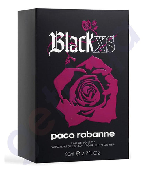 PERFUME - PACO RABANNE XS BLACK EDT 80ML FOR WOMEN