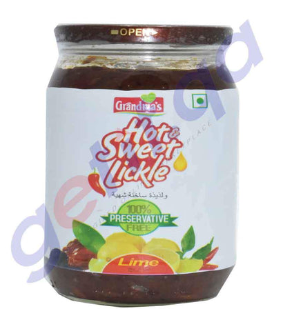 PICKLE - GRANDMAS HOT & SWEET LICKLE LIME PICKLE - 400GM