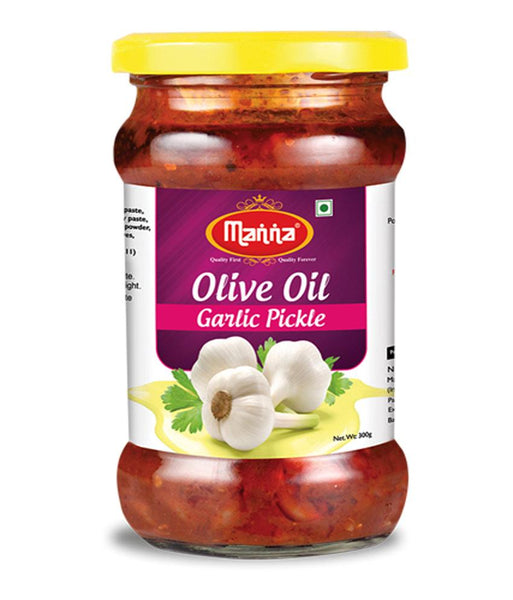 PICKLE - MANNA GARLIC PICKLE (IN OLIVE OIL) 300GM