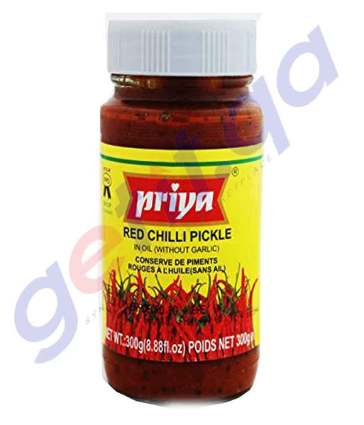 PICKLE - PRIYA RED CHILLI PICKLE - 300 GM