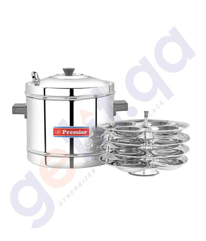 Plastic Products - STAINLESS STEEL IDLI MAKER- SMALL (4 PLATES) - 2045 BY PREMIER