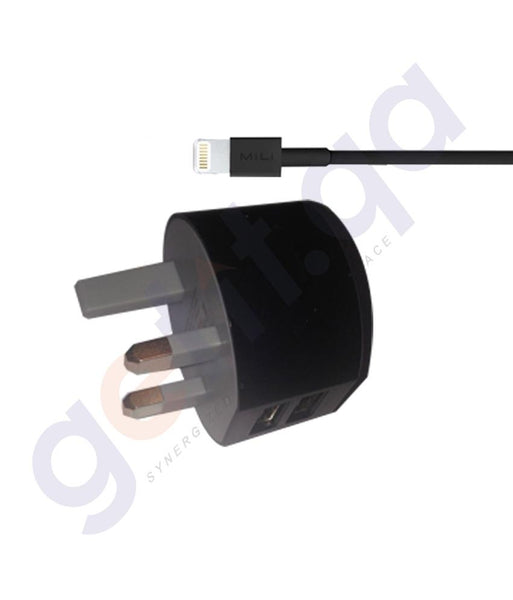 POWER ADAPTOR - MILI DOLPHIN UK 3 PIN WITH LIGHTNING CABLE -HC-K10-L