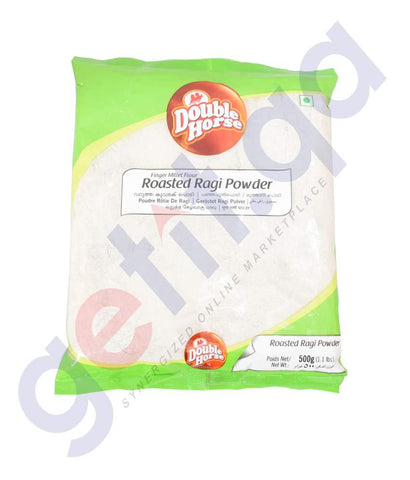 RAGI - DOUBLE HORSE ROASTED RAGGI POWDER - 500GM