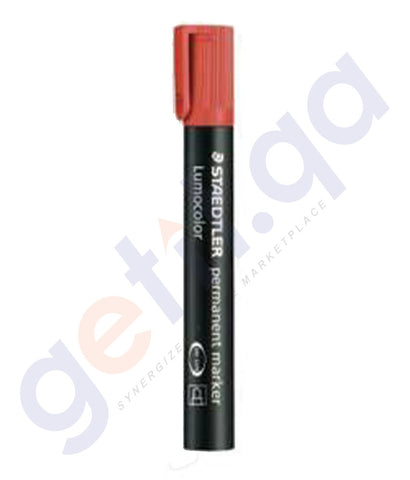 BUY STAEDTLER PERMANENT MARKER BULLET TIP -RED - ST-352-02 PACK OF 10 IN QATAR
