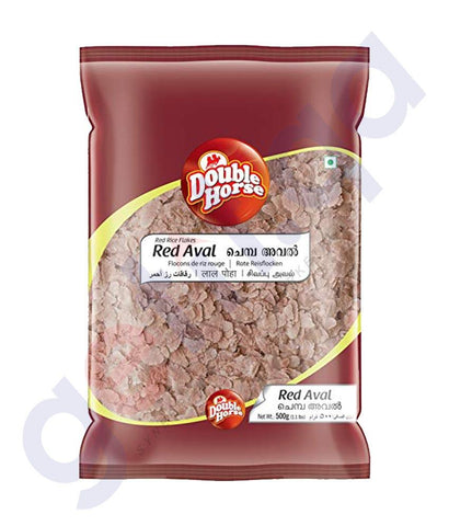 RICE FLAKE - DOUBLE HORSE  AVAL (RED) - 500GM