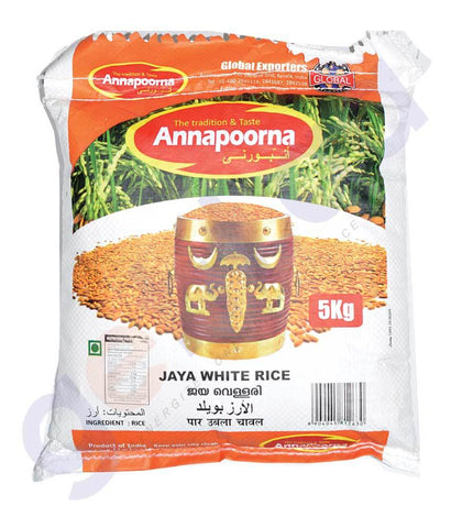 RICE - JAYA WHITE RICE 5KG BY ANNAPOORNA
