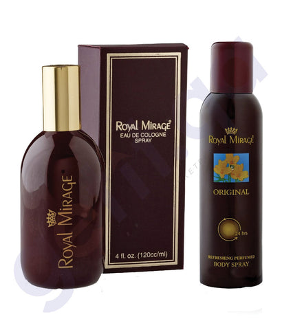 BUY ROYAL MIRAGE ORIGINAL PERFUME(120ML) + DEODORANT(150ML) IN QATAR