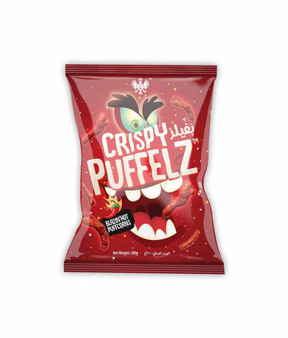 PUFFELZ CHIPS BLAZING HOT 200G
