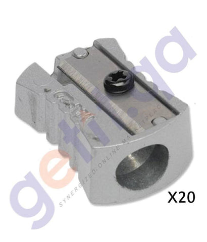 SCHOOL STATIONARY - MAPED SHARPENER 1HOLE METAL BOX=20 - MD-506600
