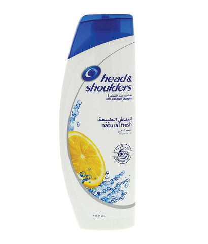SHAMPOO - Head & Shoulders Anti-Dandruff Shampoo Natural Fresh Greasy Hair 400ml