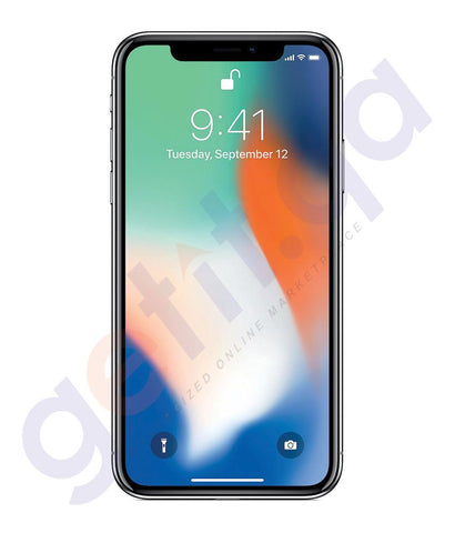 Smart Phones - Apple IPhone X – 3GB RAM, 64GB, 4G LTE, Silver