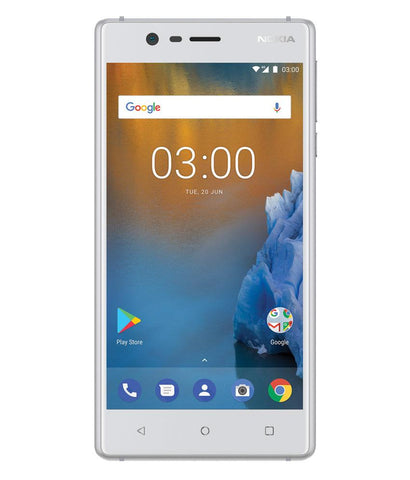 Smart Phones - NOKIA 3 DUAL SIM , 2GB RAM, 16GB , 4G LTE , SILVER WHITE