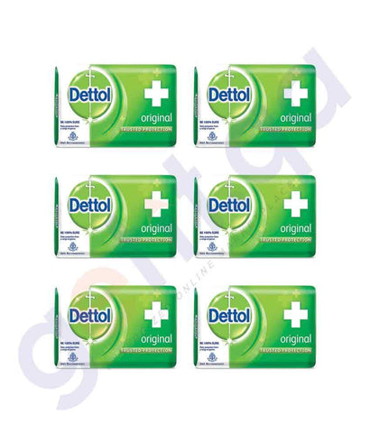 SOAP - DETTOL SOAP (6 PCS) ORIGINAL 105GM