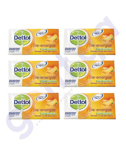 SOAP - DETTOL SOAP (6 PCS) RE-ENERGIZE 105GM